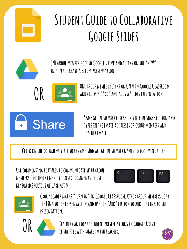 student guide to collaborative google slides teacher tech