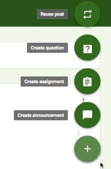 Google Classroom Create