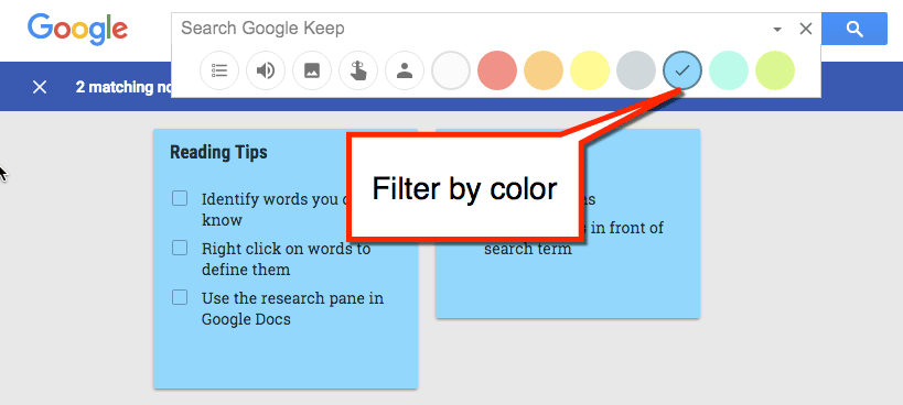Filter by color