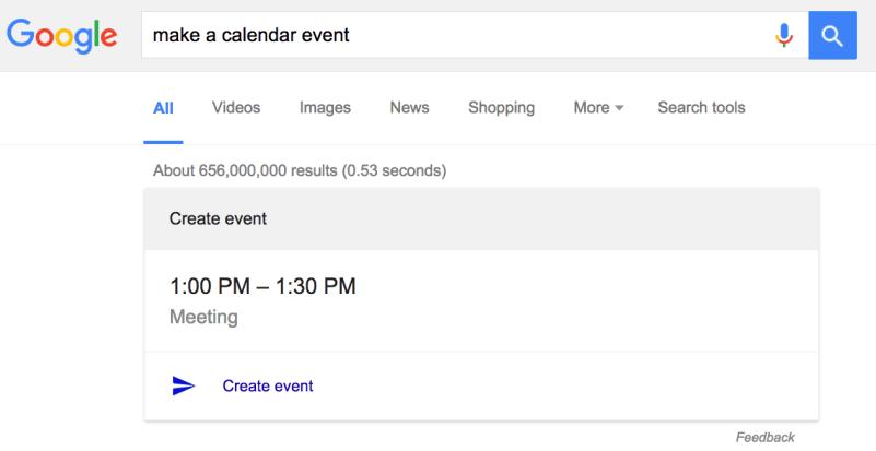 Google make a calendar event