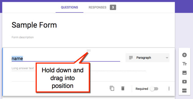 drag a question
