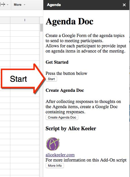 Agenda Doc: Send a Google Form and Create an Agenda - Teacher Tech