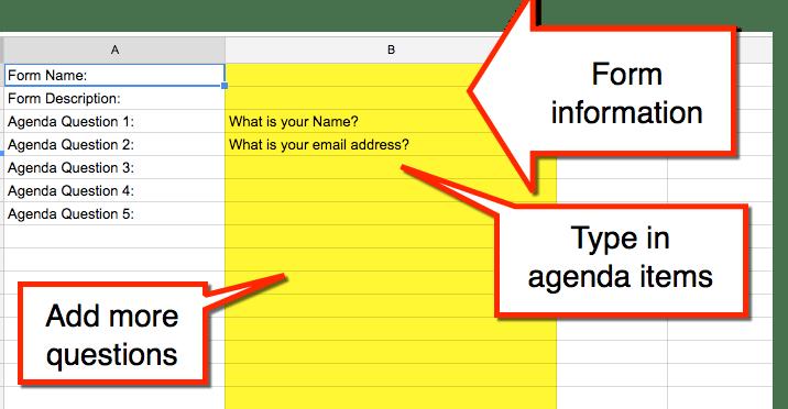 form information