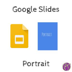 google slides rotate to portrait mode