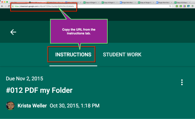 Google Classroom link to instructions
