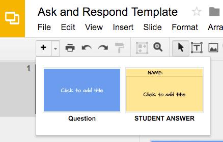 Google Slides Ask Template