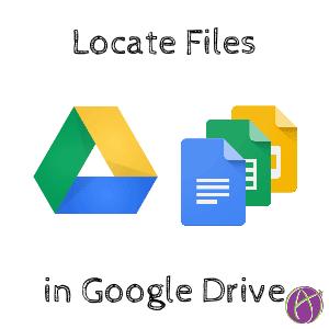 Locate files in Google Drive