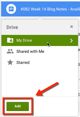 Shift z will add a document to a folder in google drive