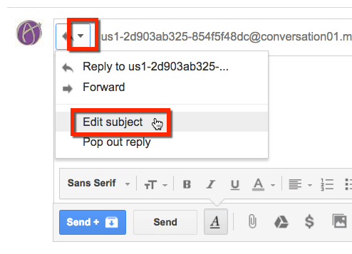 gmail edit subject line