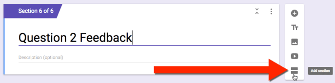 google forms add a section
