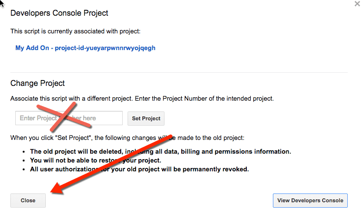 Do not enter project number