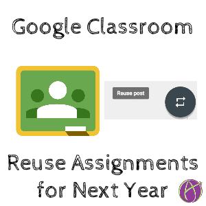 Google Classroom Reuse Post