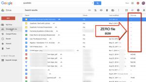 Google Drive Zero storage google docs