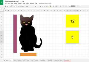 measurement activity Google Sheets