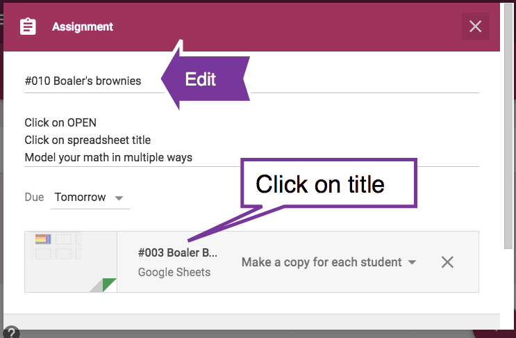 edit google classroom assignment