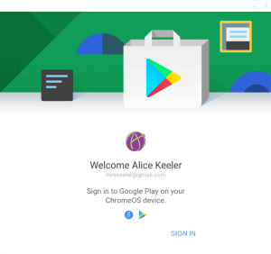 Now Android apps on my Chromebook