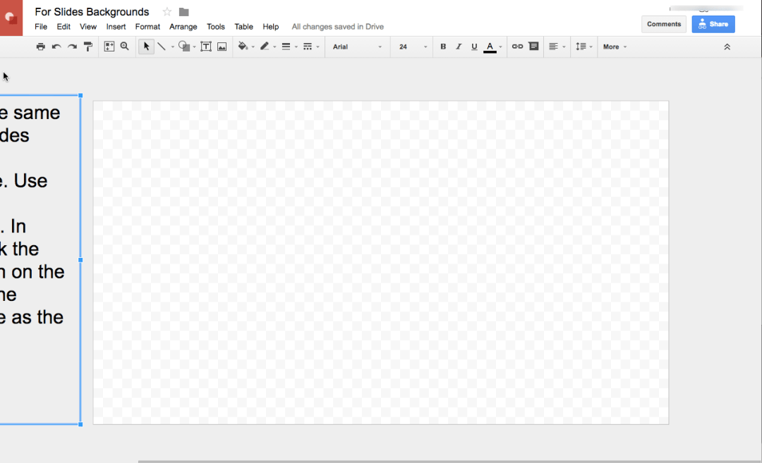 Google Slides Template for Google Drawing