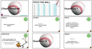 Math baseball functions