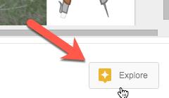 explore tool in Slides