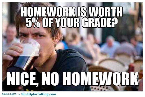 5% of grade
