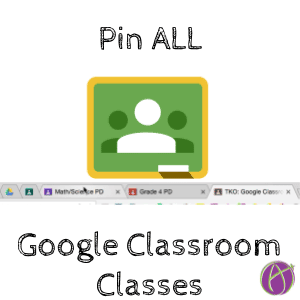 pin google classroom classes