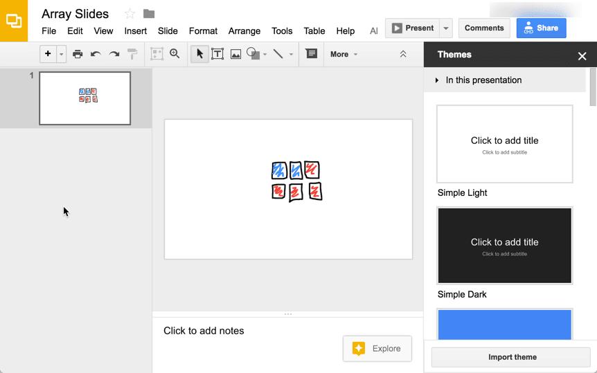 insert images into Google Slides