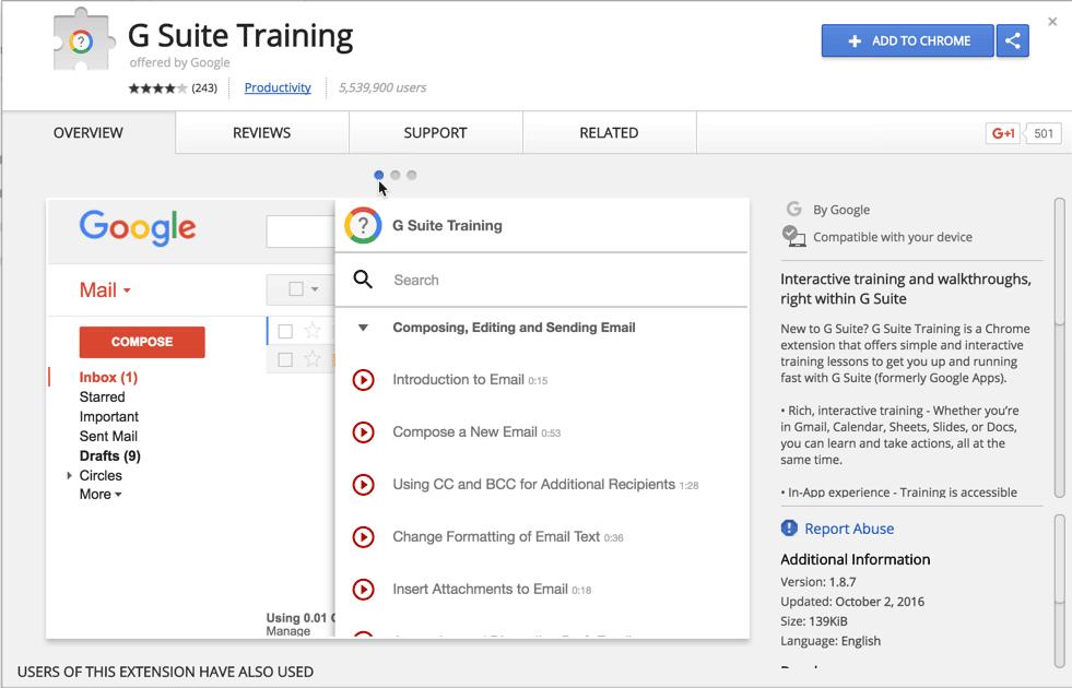 G Suite Chrome Extension