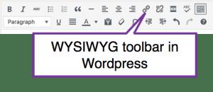 wysiwyg toolbar in wordpress