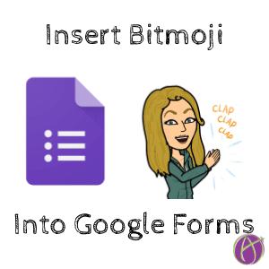 bitmoji in google forms