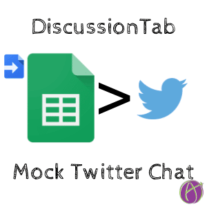 mock twitterchat with discussiontab