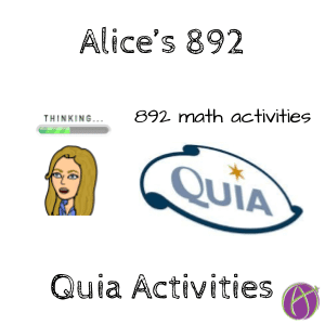 quia math activities alice keeler