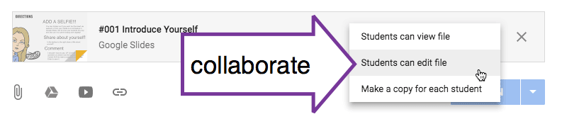 Collaborate in Google Classroom