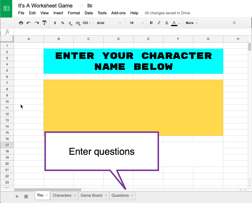 Google Sheets: It's A Worksheet Game- Help Me - Teacher Tech
