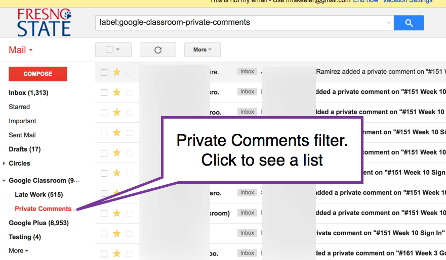 filter for private comments