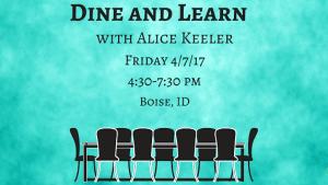 Dine and Learn with Alice Keeler