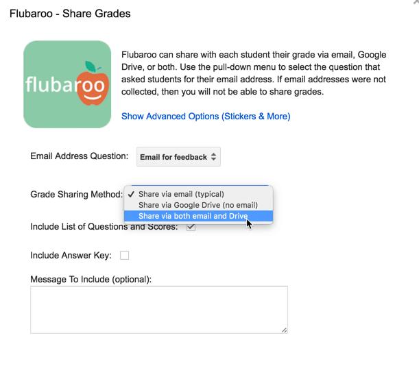 Share grades through email