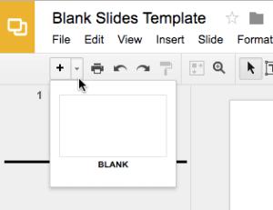 blank google slides layout