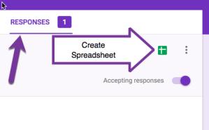 Create a spreadsheet