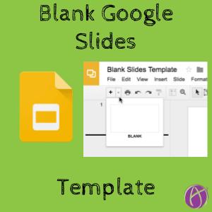 blank google slides template teacher tech