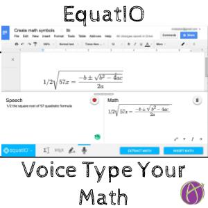 EquatIO voice type your math