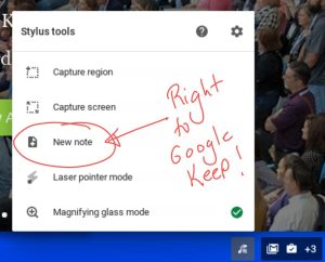 Spin 11 Right to Google Keep