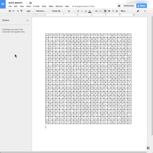 pasted puzzle into a google doc