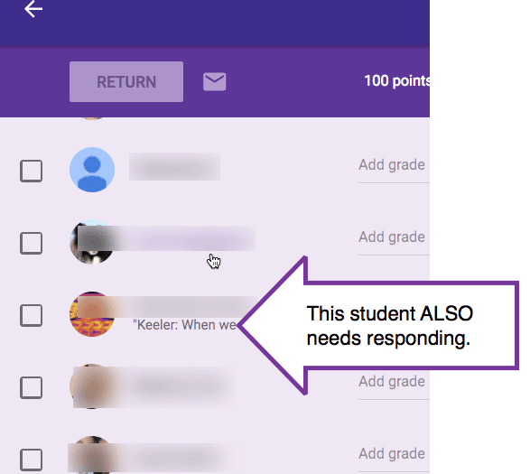 Respond to all the students in that assignment
