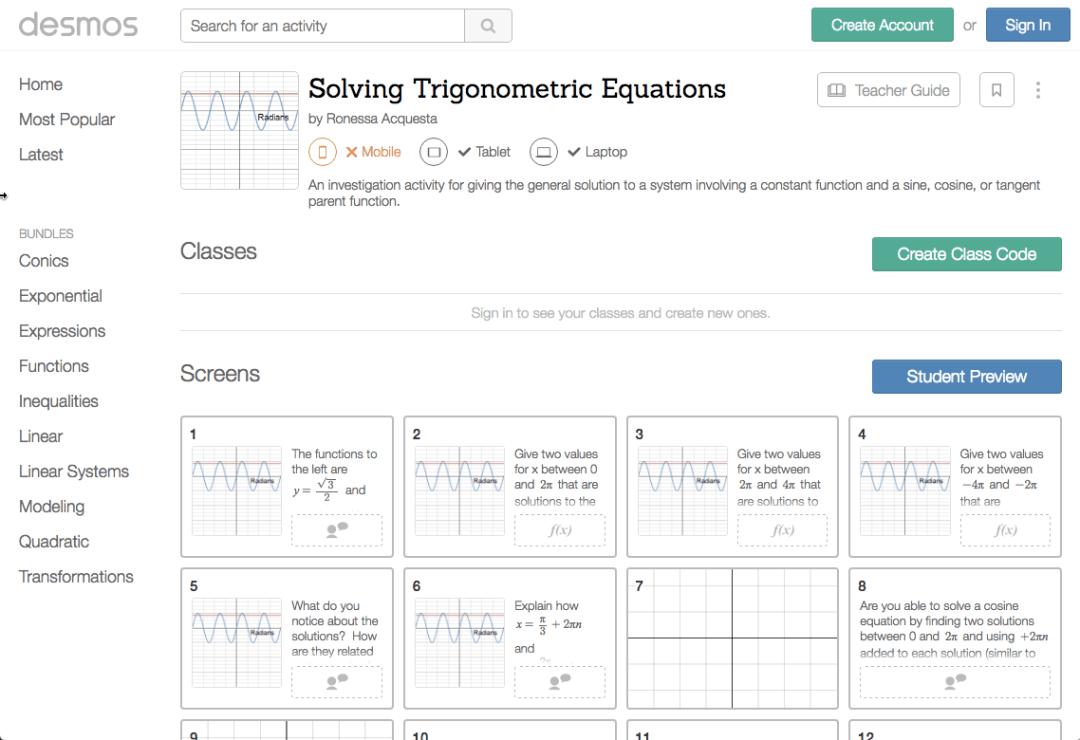 Solving Trig functions by Ronessa Acquesta