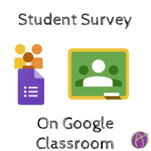 Student survey on Google Classroom