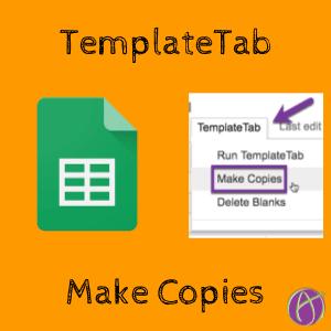 TemplateTab make copies