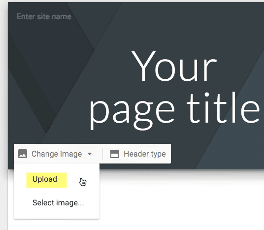 Upload to Google Sites