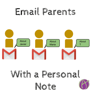Email Parents with a personal note