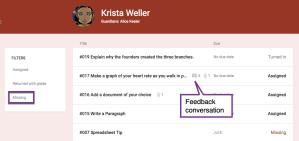Feedback Conversation Indicator