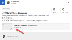 Add a Google Doc of directions to your assignment